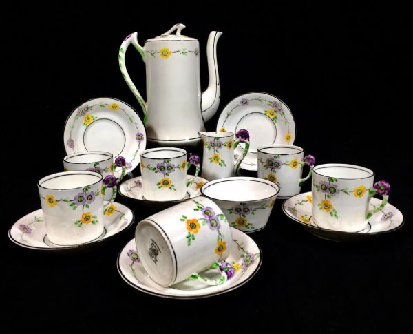 Thomas Forester & Sons Art Deco Coffee Set / Tea / For 6 People / Antique